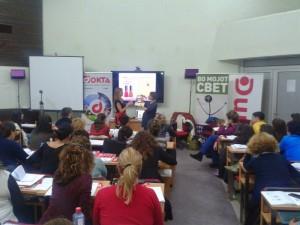 По време на обучението за ABA и PECS в Скопие, Македония