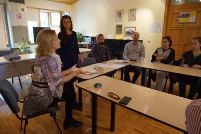 С участниците по време на срещата