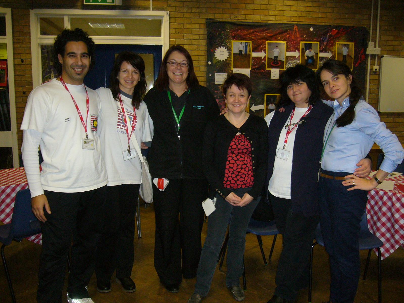 Karin dom visits Spring Common School