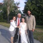 Ели Колева със своята майка, г-н Станчов и Дейвид де Ротшилд